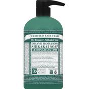 Dr. Bronner's Shikakai Soap, Organic Hand & Body, Lemongrass Lime