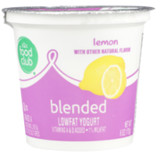 Food Club Lemon Blended Lowfat Yogurt