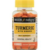 Mason Natural Turmeric, with Ginger, Gummies