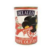 De Lallo Olives, Ripe, Colossal, Pitted