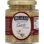 DeLallo Garlic, in Water, Fine Chopped