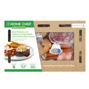 Home Chef Goat Cheese And Walnut Crusted Steak With Shallot Demi Sauce With Roasted Carrots And Pot Roast Oven Fries Meal Kits