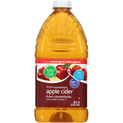 Food Club 100% Unsweetened Apple Cider From Concentrate With Added Vitamin C