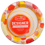 Our Family Designer Coated Paper Plates