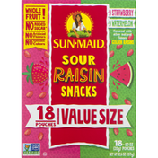 Sun-Maid Raisin Snacks, Sour, Value Size