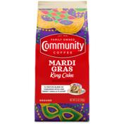 Community Coffee Mardi Gras King Cake Ground Coffee