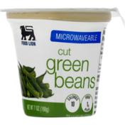 Food Lion Green Beans, Cut, Microwaveable, Cup/Tub
