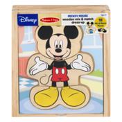 Melissa & Doug Disney Wooden Mix & Match Dressup Mickey Mouse