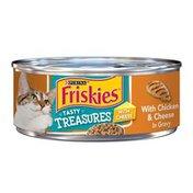 Friskies Tasty Treasures With Chicken & Cheese in Gravy Cat Food
