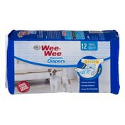 Four Paws Wee-Wee Disposable Diapers Small - 12 CT
