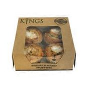 Kings Chocolate Chip Muffin 4pk