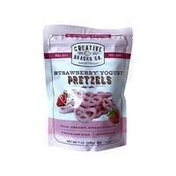 Creative Snacks Co. Pretzels, Strawberry Yogurt