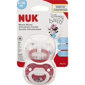 NUK Orthodontic Pacifier, Silicone, Minnie Mouse, 6-18 Months
