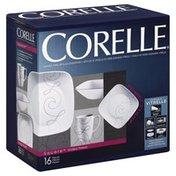 Corelle Dinnerware, Endless Thread, 16 Pieces