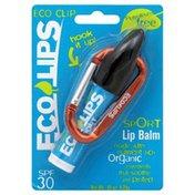 Eco Lips Lip Balm, Sport, SPF 30, Eco Clip
