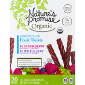 Nature's Promise Fruit Twists, Strawberry, Wild Berry, Family Size, Variety Pack