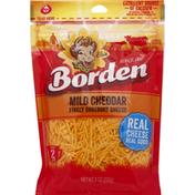 Borden Finely Shredded Cheese, Mild Cheddar