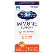 Pedialyte with Immune Support Electrolyte Powder Fruit Punch