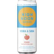 High Noon Peach Vodka Hard Seltzer
