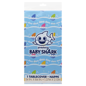 Unique Table Cover, Plastic, Baby Shark
