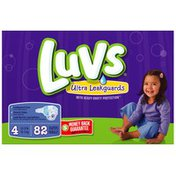 Luvs with Ultra Leakguards Family Pack Size 4 Diapers