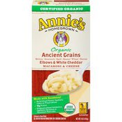 Annie's Organic Ancient Grains Elbows & White Cheddar Mac & Cheese Macaroni and Cheese Organic