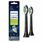 Philips Sonicare DiamondClean replacement toothbrush heads, HX6062/95, BrushSync™ technology, Black