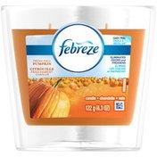 Febreze Candle Febreze Scented Candle Fresh Fall Pumpkin Air Freshener (1 Count, 4.3 oz) Air Care