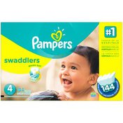 Pampers Swadlers Pampers Swaddlers Diapers Size 4 144 count Diapers