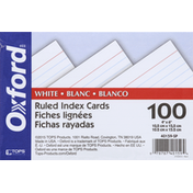 Oxford Index Cards, Ruled, White