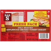 Bar-S Fresh Pack Deli Shaved Applewood Smoked Turkey Breast