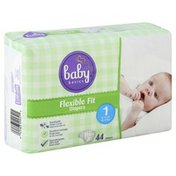 Baby Basics Diapers, Flexible Fit, Size 1 (8-14 lb)