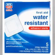 Rite Aid 4 x 4 First Aid Water Resistant Bandages