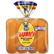 Bunny Bread Hot Dog Enriched Buns