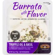 Formaggio Burrata, Gluten Free, Truffle Oil & Basil, Cup/Tub