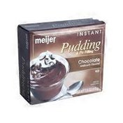 meijer CHOCOLATE FLAVORED instant PUDDING & PIE FILLING