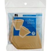 Food Lion Coffee Filters, Unbleached, No.4 Cone Style