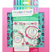 Make it Real Bracelets, Halo Charms, Think Pink