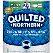 Quilted Northern Bathroom Tissue, Mega Roll, Ultra Soft & Strong, 2-Ply, Unscented