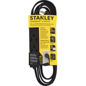 Stanley Extension Cord, Grounded, Black, 9 Feet