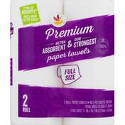 Ahold Paper Towels, Premium, Full Size, 2-Ply