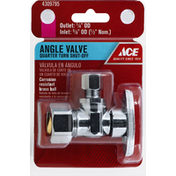 Ace Bakery Angle Valve, Shut-Off, Quarter Turn