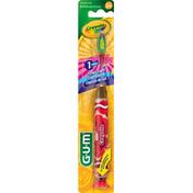 GUM Toothbrush, Crayola, Timer Light, Soft