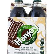 Hansen's Creamy Root Beer Glass Bottles