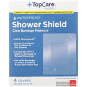 TopCare Waterproof Shower Shield Clear Bandage Protector Covers