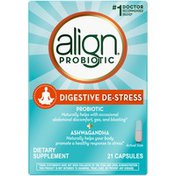 Align DIGESTIVE DE-STRESS Probiotic + Herbal Ashwagandha Supplement