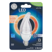 GE LED Carria Light Bulb Outdoor Soft White Clear 4.2W