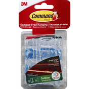 3M Command Clips, Rope Light, Outdoor