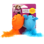 Paws Happy Life 2 Catnip Plush Toys For Cats