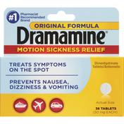 Dramamine Motion Sickness Relief, 50 mg, Original Formula, Tablets
